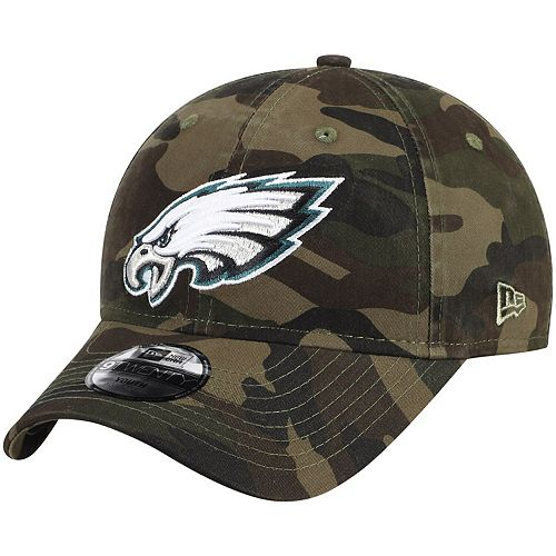 Youth New Era Camo Philadelphia Eagles Core Classic Woodland Camo 9TWENTY Adjustable Hat