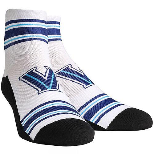 Youth White Villanova Wildcats Classic Stripes Quarter-Length Socks