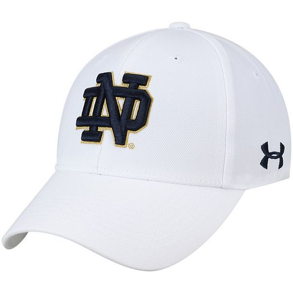 Men's Under Armour White Notre Dame Fighting Irish Classic Structured Adjustable Hat