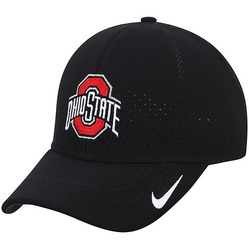 Youth Nike Black Ohio State Buckeyes Sideline Coaches Legacy 91 Performance Adjustable Hat