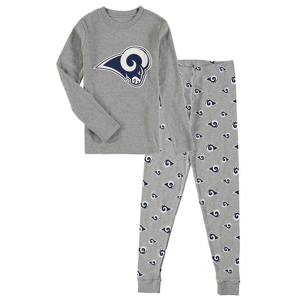 Preschool Heathered Gray Los Angeles Rams Long Sleeve T-Shirt & Pants Sleep Set