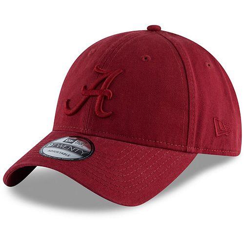 Men's New Era Crimson Alabama Crimson Tide Core Classic Tonal 9TWENTY Adjustable Hat