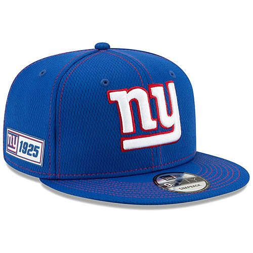 Men's New Era Royal New York Giants 2019 NFL Sideline Road Official 9FIFTY Snapback Adjustable Hat