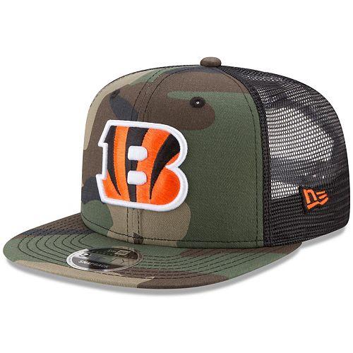 Men's New Era Woodland Camo/Black Cincinnati Bengals Trucker 9FIFTY Snapback Adjustable Hat