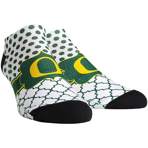 Women's Oregon Ducks Quatrefoil Dots Ankle Socks