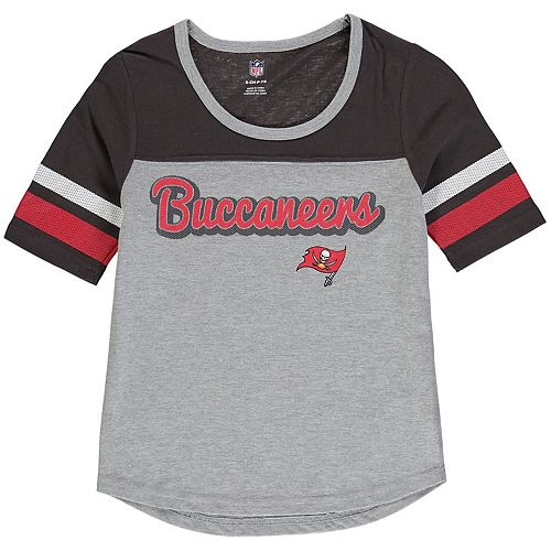 Girls Youth Heathered Gray/Pewter Tampa Bay Buccaneers Fan-Tastic Short Sleeve T-Shirt