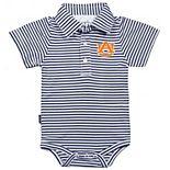 Infant Garb Navy/White Auburn Tigers Carson Striped Short Sleeve Bodysuit