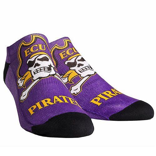 Men's ECU Pirates Mascot Low Ankle Socks