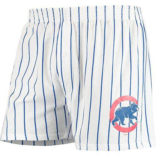 Men's Concepts Sport White Chicago Cubs Vigor Boxer Shorts