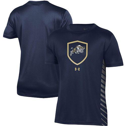 Youth Under Armour Navy Navy Midshipmen Performance Novelty T-Shirt