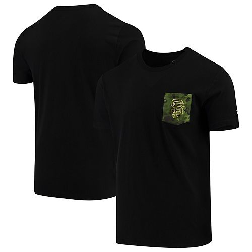 San Francisco Giants New Era Armed Special Forces Camo Pocket T-Shirt - Black