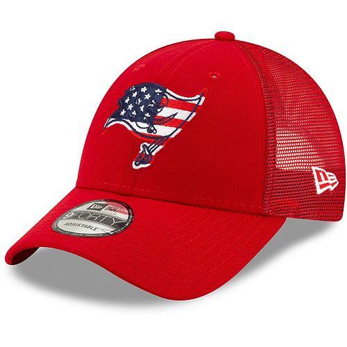 Men's New Era Red Tampa Bay Buccaneers Flag Fill 9FORTY Adjustable Hat