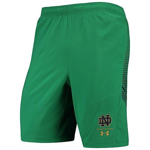 Men's Under Armour Green Notre Dame Fighting Irish Pinnacle Woven Performance Shorts
