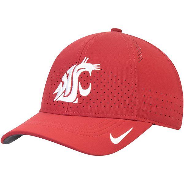 Youth Nike Crimson Washington State Cougars Sideline Coaches Legacy 91 Performance Adjustable Hat