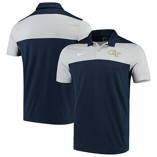 Georgia Tech Yellow Jackets Nike Color Block Performance Polo  Navy