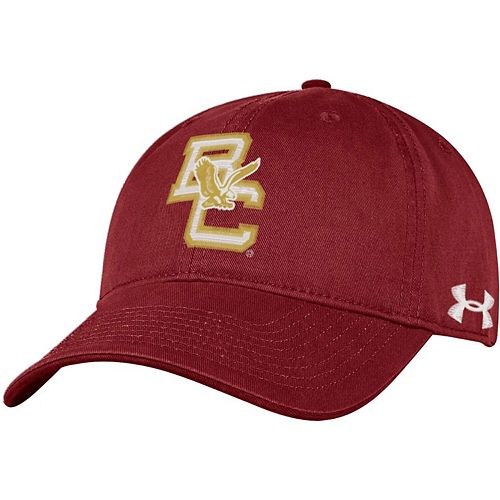 Men's Under Armour Maroon Boston College Eagles 150 Seasons Washed Cotton Adjustable Hat