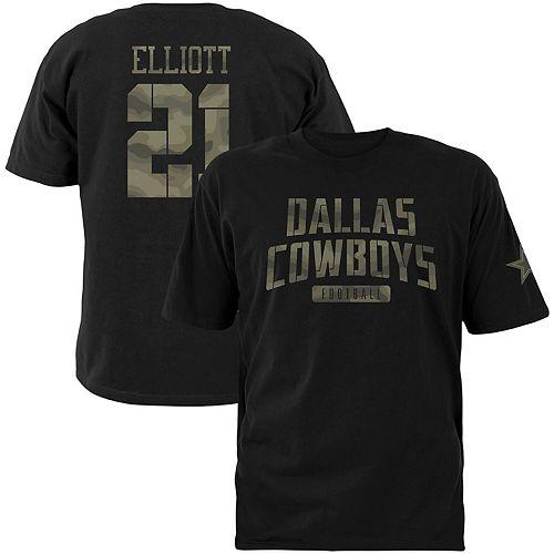 buy online 6f740 b53db Men's Ezekiel Elliott Black Dallas Cowboys Camo Name ...