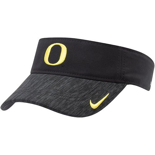 Men's Nike Black Oregon Ducks 2018 Sideline AeroBill Performance Visor