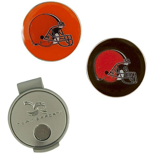 Cleveland Browns Hat Clip & Ball Markers Set
