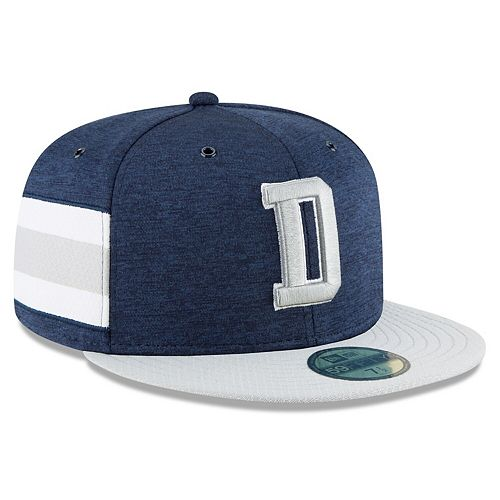 Men's New Era Navy/Gray Dallas Cowboys 2018 NFL Sideline Home Official 59FIFTY Fitted Hat