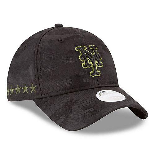 Women's New Era Black New York Mets 2018 Memorial Day 9TWENTY Adjustable Hat