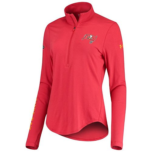 Women's Under Armour Red Tampa Bay Buccaneers Combine Authentic Favorites Half-Zip Jacket