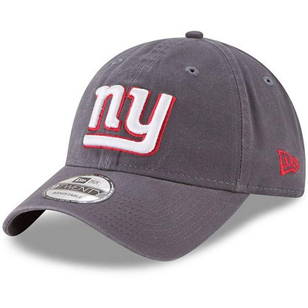 Men's New Era New York Giants Graphite Core Classic Team Logo 9TWENTY Adjustable Hat