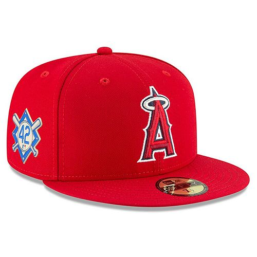 Men's New Era Red Los Angeles Angels Jackie Robinson Day 59FIFTY Fitted Hat