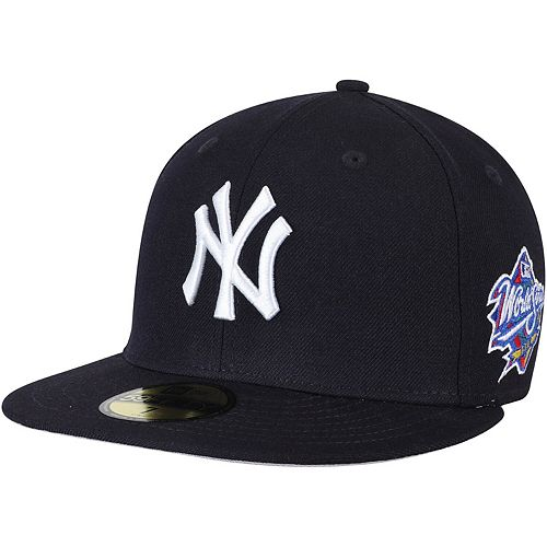 Men's New Era Navy New York Yankees 1998 World Series Wool 59FIFTY Fitted Hat