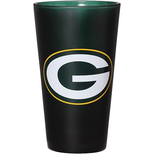 Green Bay Packers 16 oz. Team Color Frosted Pint Glass