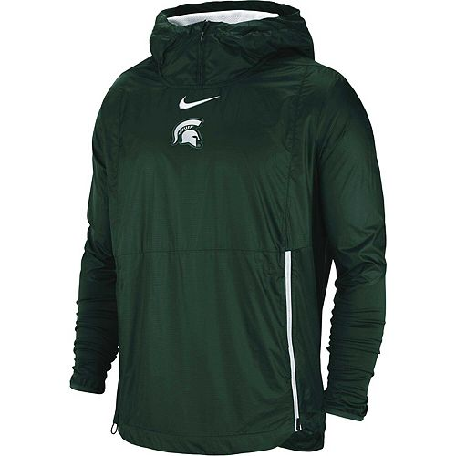 Men's Nike Green Michigan State Spartans 2018 Sideline Fly Rush Pullover Jacket