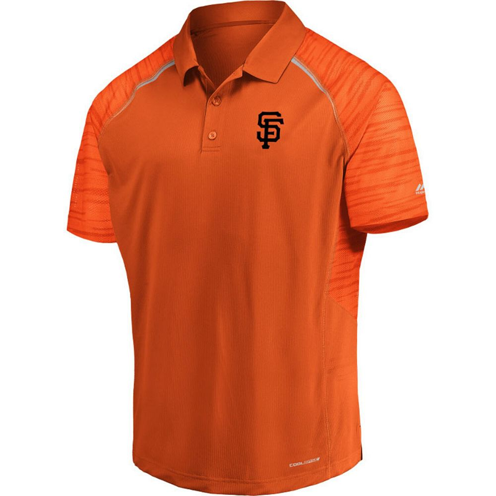 Men's Majestic Orange San Francisco Giants Strong and Graphic Cool Base Polo