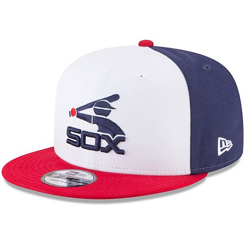 Men's New Era White/Red Chicago White Sox Team Color 9FIFTY Snapback Hat