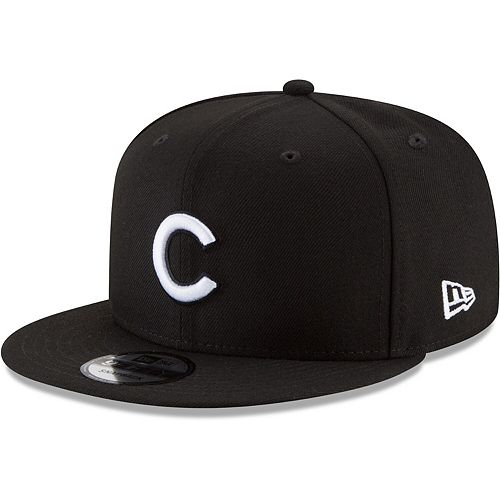 Men's New Era Black Chicago Cubs Black & White 9FIFTY Snapback Hat