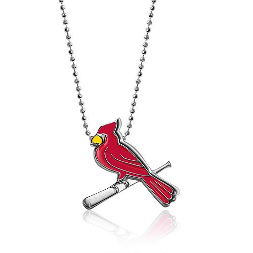 Women's Alex Woo St. Louis Cardinals Little MLB Enamel Sterling Silver Necklace