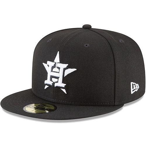 Men's New Era Black Houston Astros Basic 59FIFTY Fitted Hat