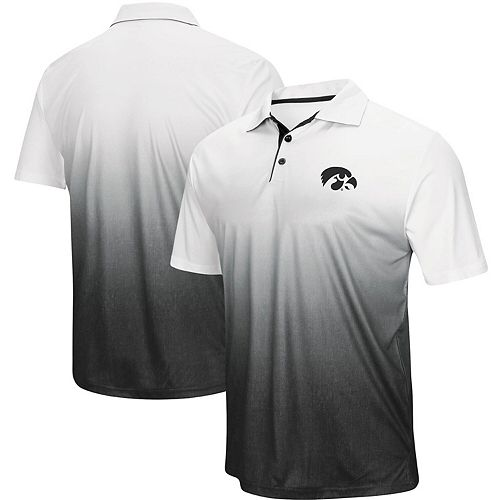 Men's Colosseum Heathered Gray Iowa Hawkeyes Magic Team Logo Polo
