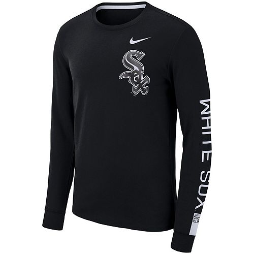 Men's Nike Black Chicago White Sox Heavyweight Long Sleeve T-Shirt