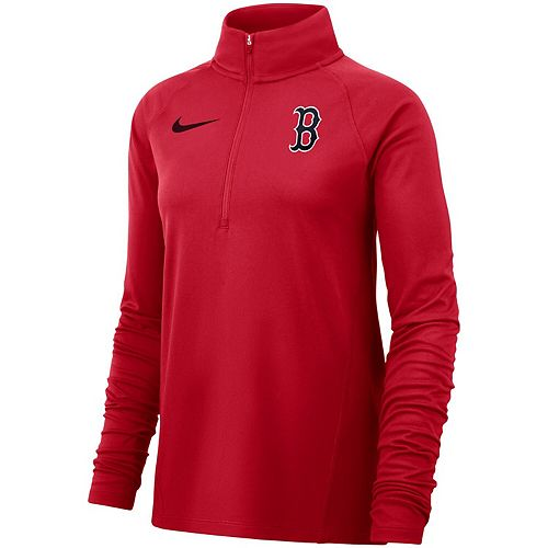 Women's Nike Red Boston Red Sox Team Core Half-Zip Raglan Pullover Jacket