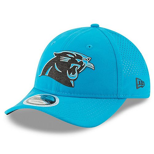 Youth New Era Blue Carolina Panthers 2018 Training Camp Primary 9TWENTY Adjustable Hat