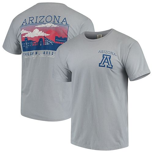 Men's Gray Arizona Wildcats Team Comfort Colors Campus Scenery T-Shirt