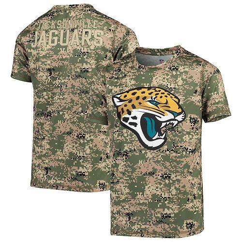 Youth Camo Jacksonville Jaguars Alpha Sublimated Dri-Tek T-Shirt