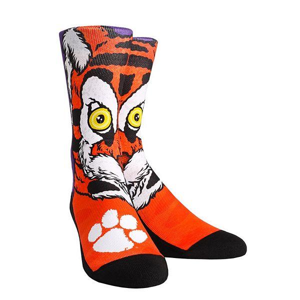 Men's Clemson Tigers Mascot & Logo Crew Socks
