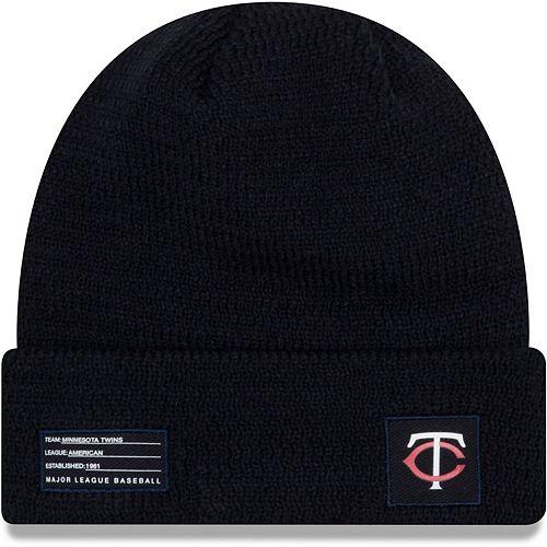 Men's New Era Navy Minnesota Twins On-Field Sport Cuffed Knit Hat