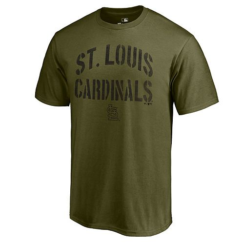 Men's Fanatics Branded Green St. Louis Cardinals 2019 Armed Forces Camo Collection Jungle T-Shirt