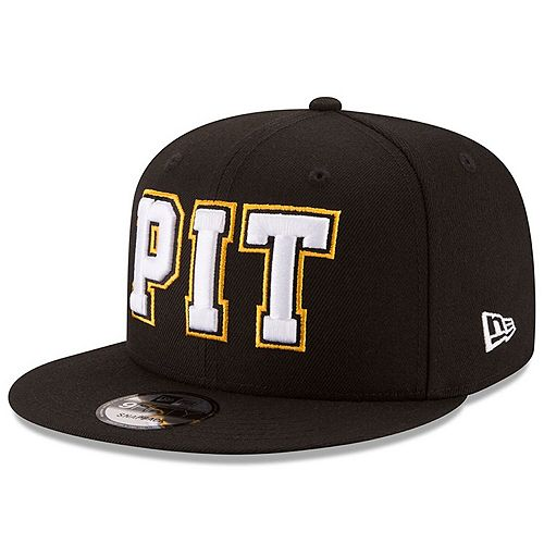 Men's New Era Black Pittsburgh Steelers Home Turf 9FIFTY Adjustable Snapback Hat