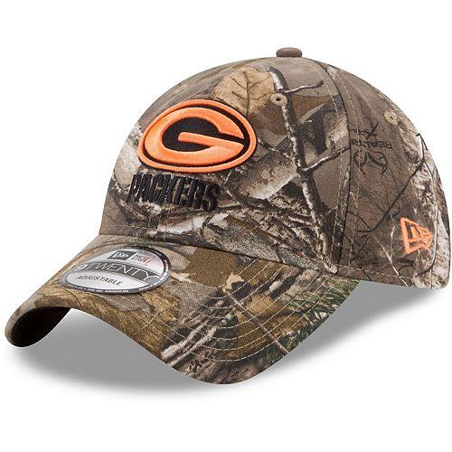 Men's New Era Realtree Camo Green Bay Packers Blaze 9TWENTY Adjustable Hat