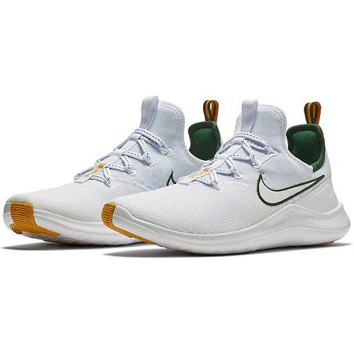 Women's Nike White/Green Green Bay Packers Free TR 8 Shoes