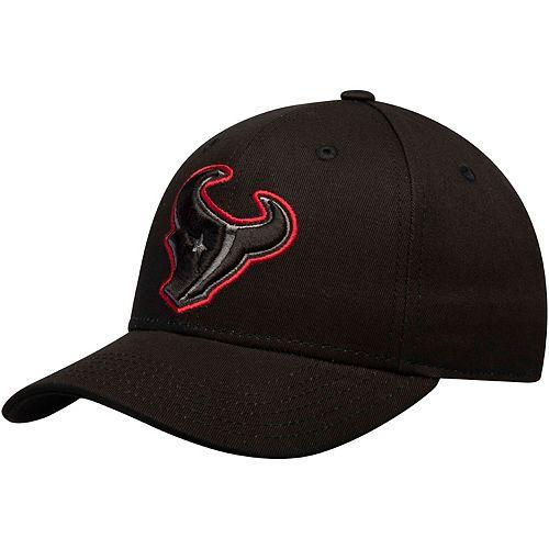 Youth Black Houston Texans Black & White Structured Adjustable Hat