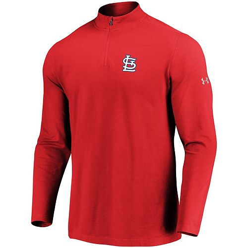 Men's Under Armour Red St. Louis Cardinals Passion Performance Tri-Blend Quarter-Zip Pullover Jacket